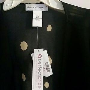 Anna Maxwell Tops - Anna Maxwell jacket/over shirt top NWT 32W black t